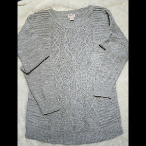 Merona soft crew neck woven sweater size Medium