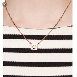 ♠️ Kate Spade | Hole Punch Spade Gold Necklace