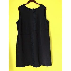 Lane Bryant Fabric Accent Black Shift Dresss 16