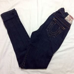 True Religion Casey Dark Wash Stretchy Skinny Jean