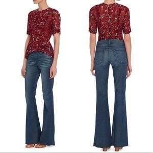 Frame Le High Flare Jeans in Reeves