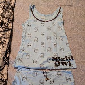 No Boundaries Intimates & Sleepwear - Owls Shortie PJ set