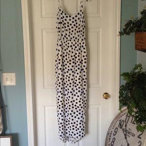 Old Navy polka dot hi low Maxi dress size M