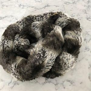 Kate Spade faux fur infinity scarf