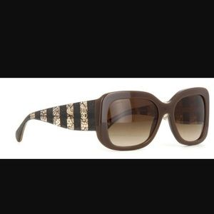 Chanel Sunglasses Signature Square Lace Tweed