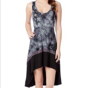 NWT Black & Charcoal Tie-dye Hi-Low Dress