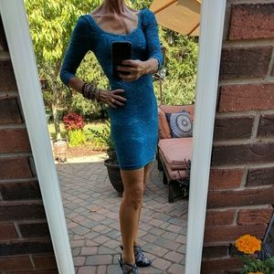 Repost - Teal Free People Bodycon Dress
