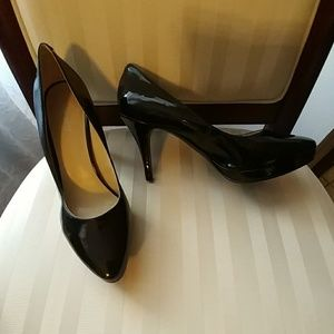 Nine West Navy Blue 4 inch and 1/2 inch platform
