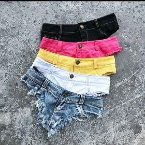 Pants - Tassle sexy shorts Booty short shorts
