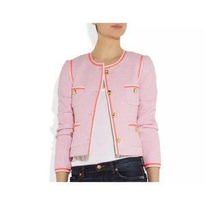 J. Crew tweed like cotton jacket blazer size 8