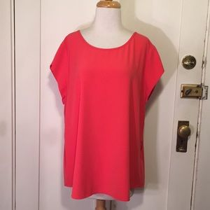 Chico's pink blouse exposed zipper back 3(XL)