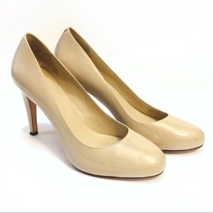 Cole Haan Beige Nude Patent Leather Nike Pumps