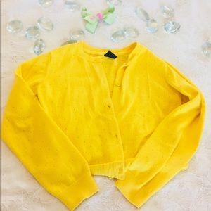 BabyGap Toddler Bright Yellow Cotton Cardigan