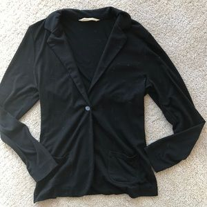 [Old Navy] Single-Button Black Jersey-Knit Blazer