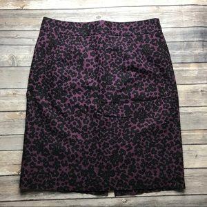 Banana Republic Womens Purple Print Skirt 10
