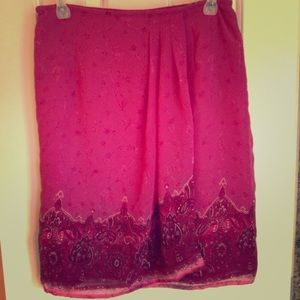 Dresses & Skirts - Worthington Petite Sheer Faux Wrap Skirt Size 10P