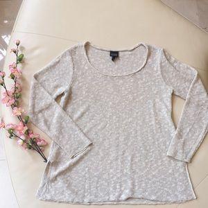 Eileen Fisher Linen Blend Long Sleeve Top 💜 Small
