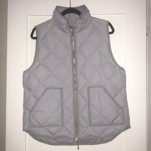 JCrew quilted puffy vest