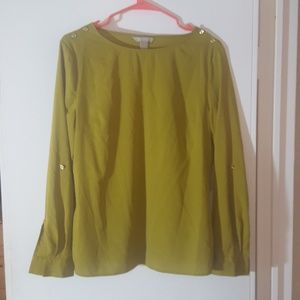 Green banana republic blouse