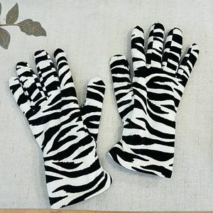 Zebra Print Thinsulate Gloves
