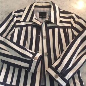 nanette lepore Stripe Crop Jacket