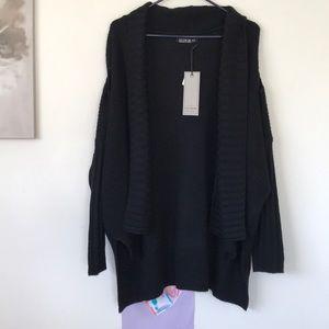 Cotton On Cold Shoulder Black Cardigan NWT