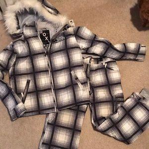 Roxy 2 piece girls ski outfit