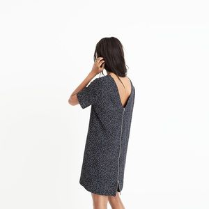 Madewell Zip-Back Dress In Dot Scatter NWT
