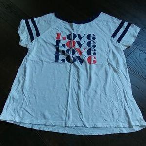 Retro style love t-shirt by Torrid