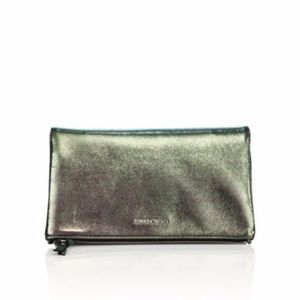 Jimmy Choo Nyla Iridescent Shimmer Leather Clutch