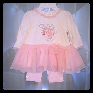 Little Me Girls 3Month matching set
