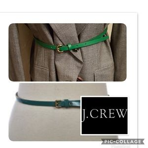 NWOT J. Crew skinny belt M