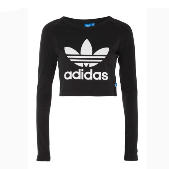 4fe2334cedd5d adidas Tops - ADIDAS originals trefoil long sleeve crop top😍😍