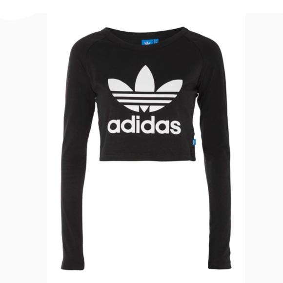 7406a2f90e6 adidas Tops - ADIDAS originals trefoil long sleeve crop top😍😍