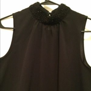 Banana Republic small black blouse high neck
