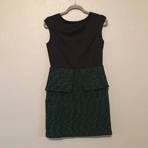 Tweed green and black dress