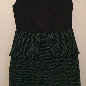 Greylin Dresses - Tweed green and black dress