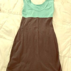 American Apparel blue and gray Color Block Dress.