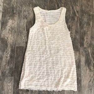 Free People cream & gold ruffle dress
