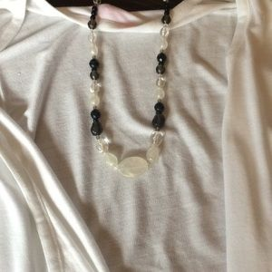 Black and white mommy necklace for nursing