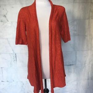 Eileen Fisher Linen Cotton Rust Cardigan