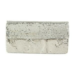 LIKE NEW Style & Co. Silver Sequin Sparkly Clutch