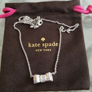 Kate Spade Gold Filed Bow Necklace