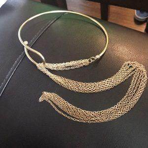 Gold chain chocker necklace