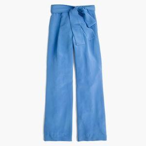 J.Crew Collection 100% Silk Waist Tie Pant NWOT