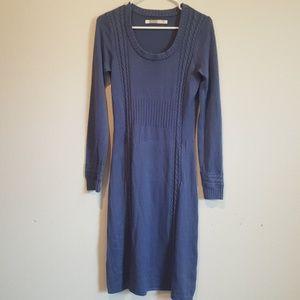 Athleta sweater dress Cashmere Bamboo Blue Large