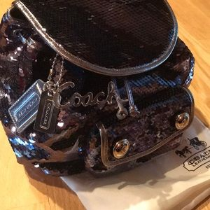 NWT Coach Poppy Sequin Backpack