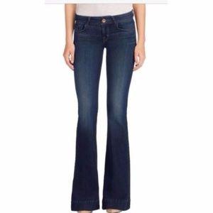 J Brand Jeans sz 31 Love Story Rye Wide Leg Flare