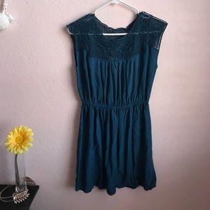 Blue Mesh top dress.