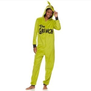 Grinch hooded onesie one piece